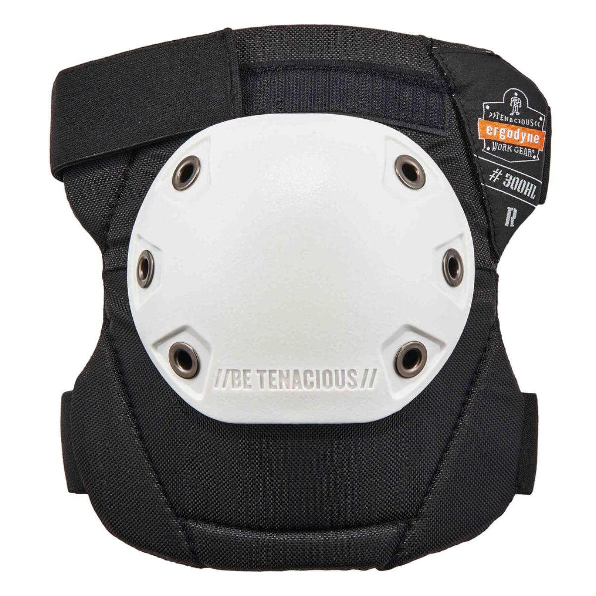 300HL  White Cap Rounded Cap Knee Pad - H&L