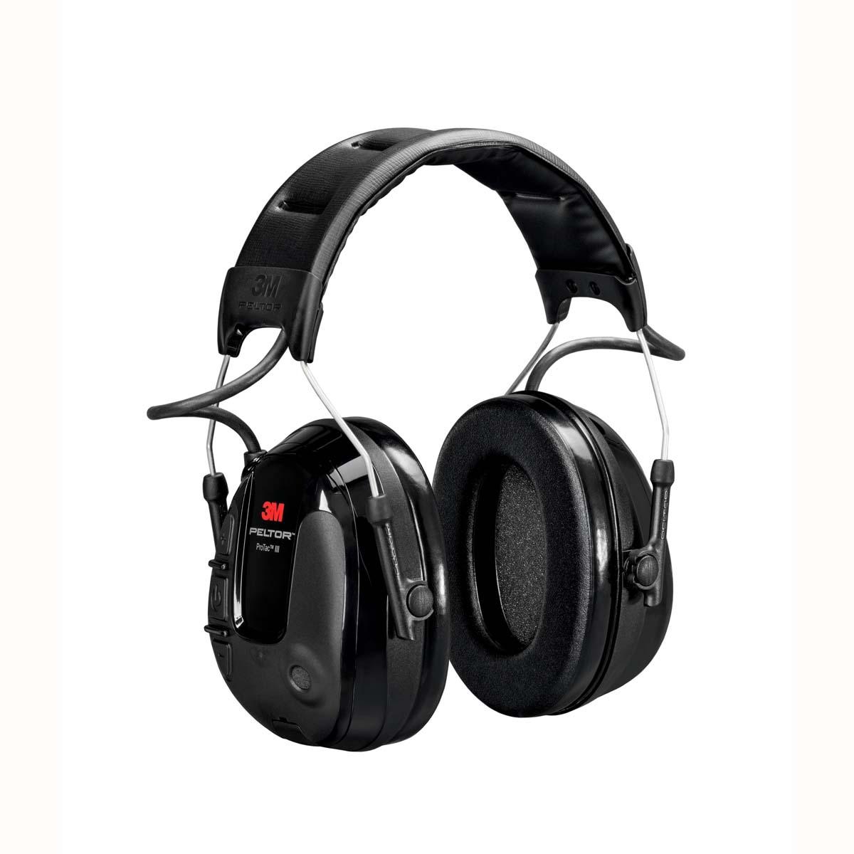 3M PELTOR ProTac III Slim Headset  Black  Headband