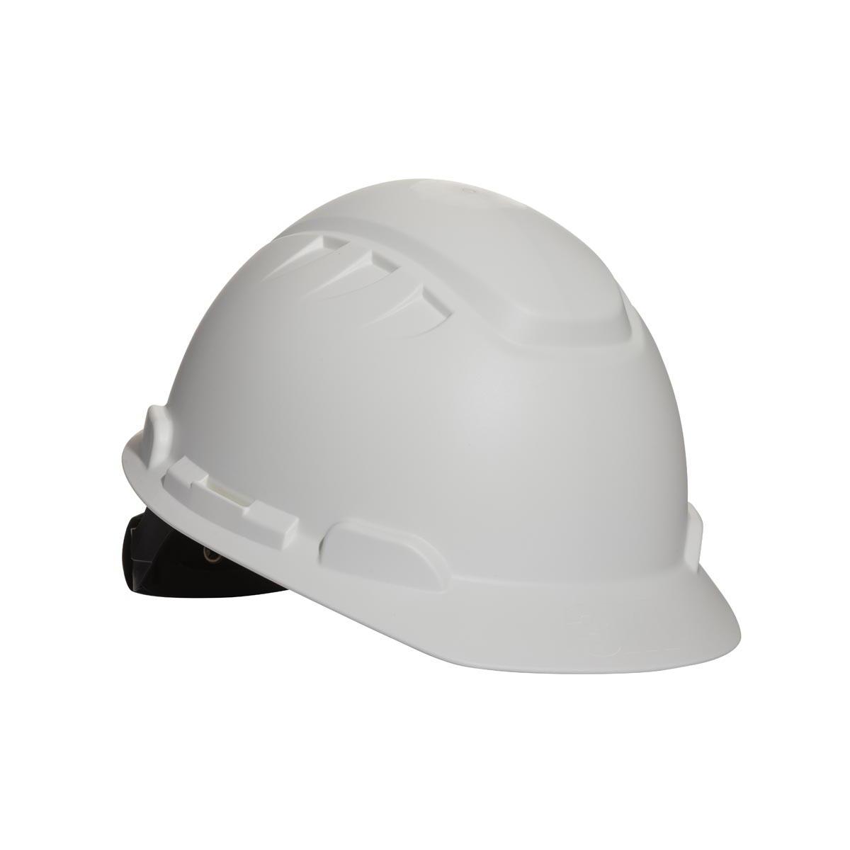 3M Elevated Temperature Hard Hat  White 4-Point Ratchet Suspension H-701T
