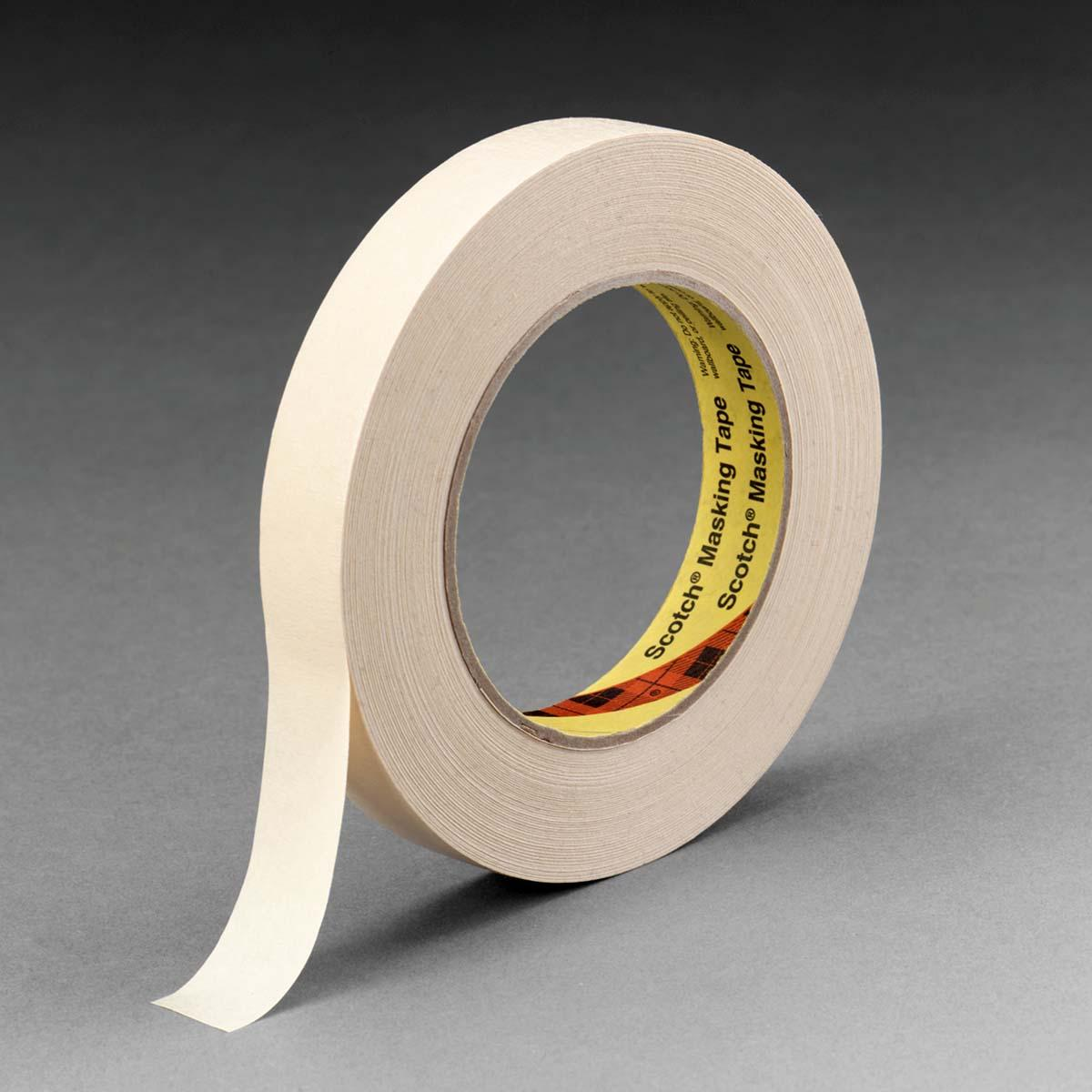 3M High Performance Masking Tape 232 Tan, 24 mm x 55 m 6.3 mil, 36 per case Bulk
