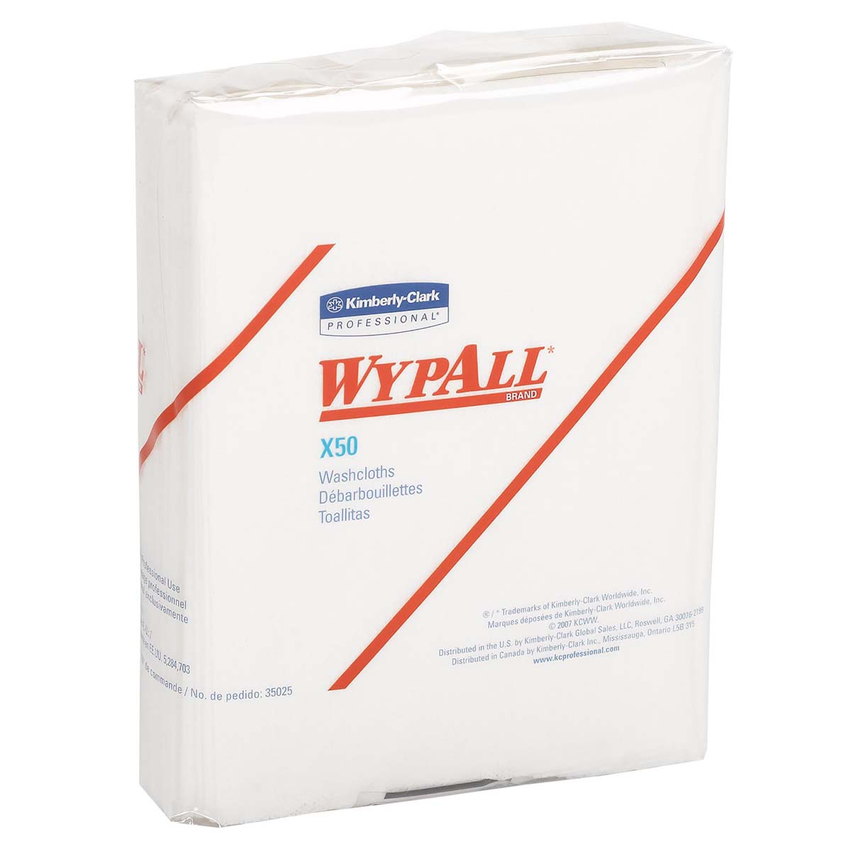 Wypall X50 Disposable Wipers (35025), Strong for Extended Use, Quarterfold, White, 32 Packs / Case, 26 Sheets / Pack, 832 Sheets / Case
