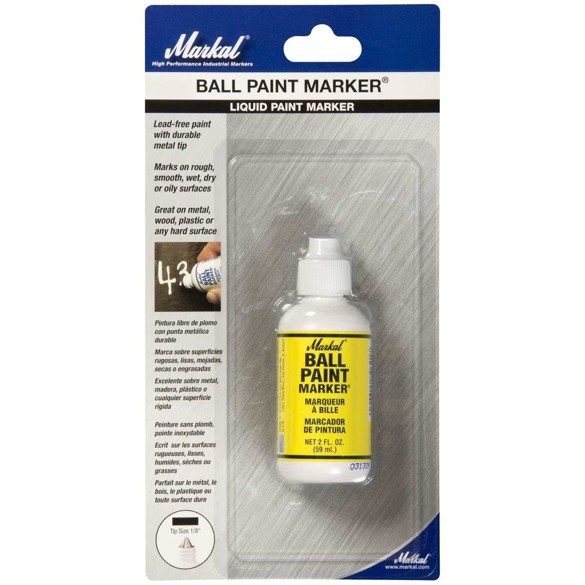 BALL PAINT MARKER, Yellow, Carded
