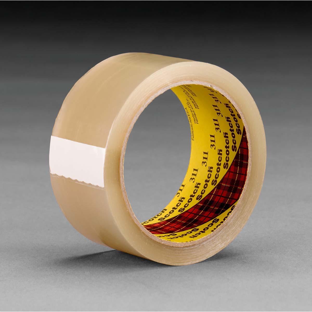 Scotch® Box Sealing Tape 311 Clear, 48 mm x 100 m, 36 rolls per case Bulk