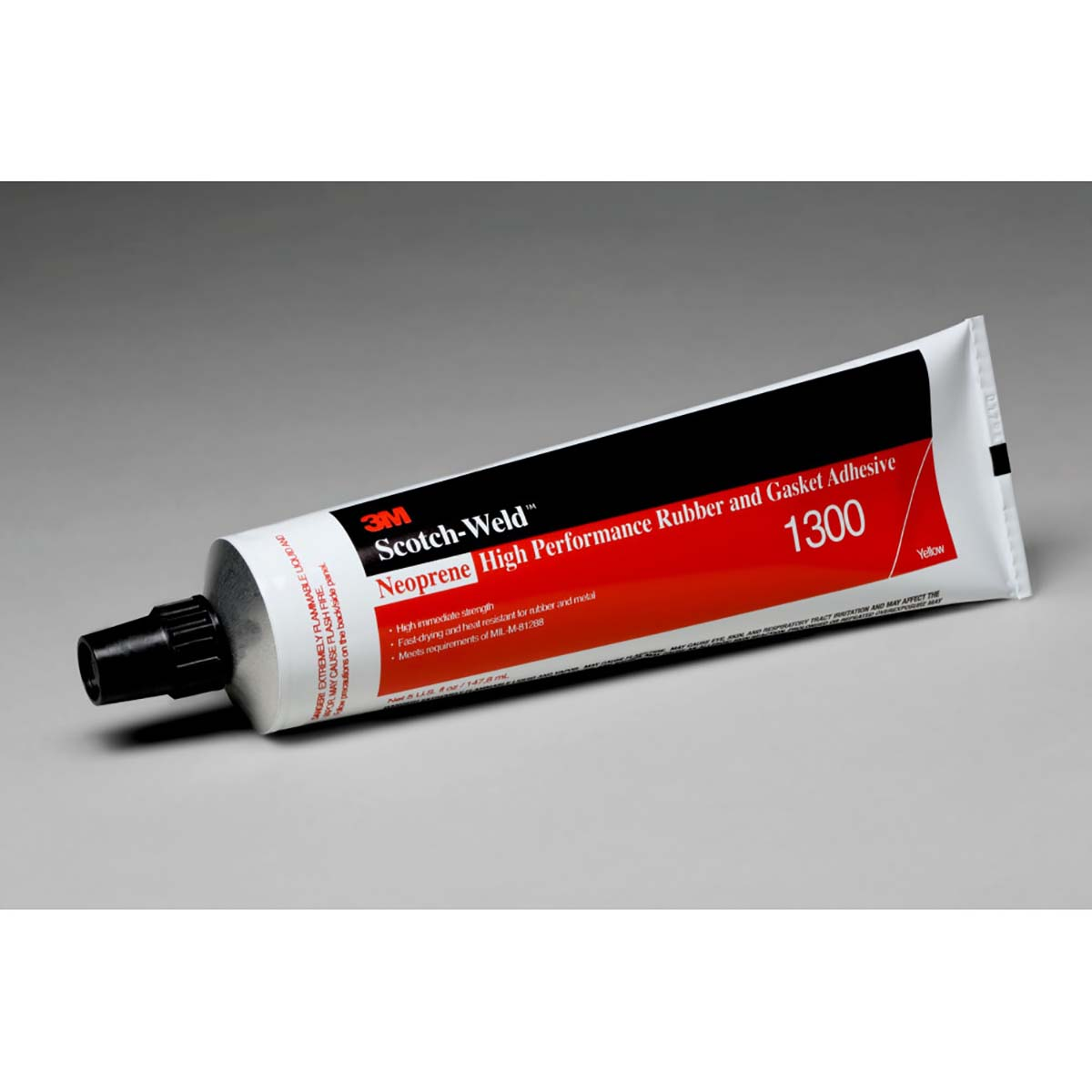 3M Neoprene High Performance Rubber And Gasket Adhesive 1300 Yellow  5 Ounce Tube  36 per case