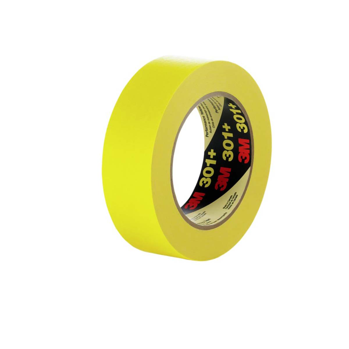 3M Performance Yellow Masking Tape 301+, 48 mm x 55 m 6.3 mil, 24 per case Bulk