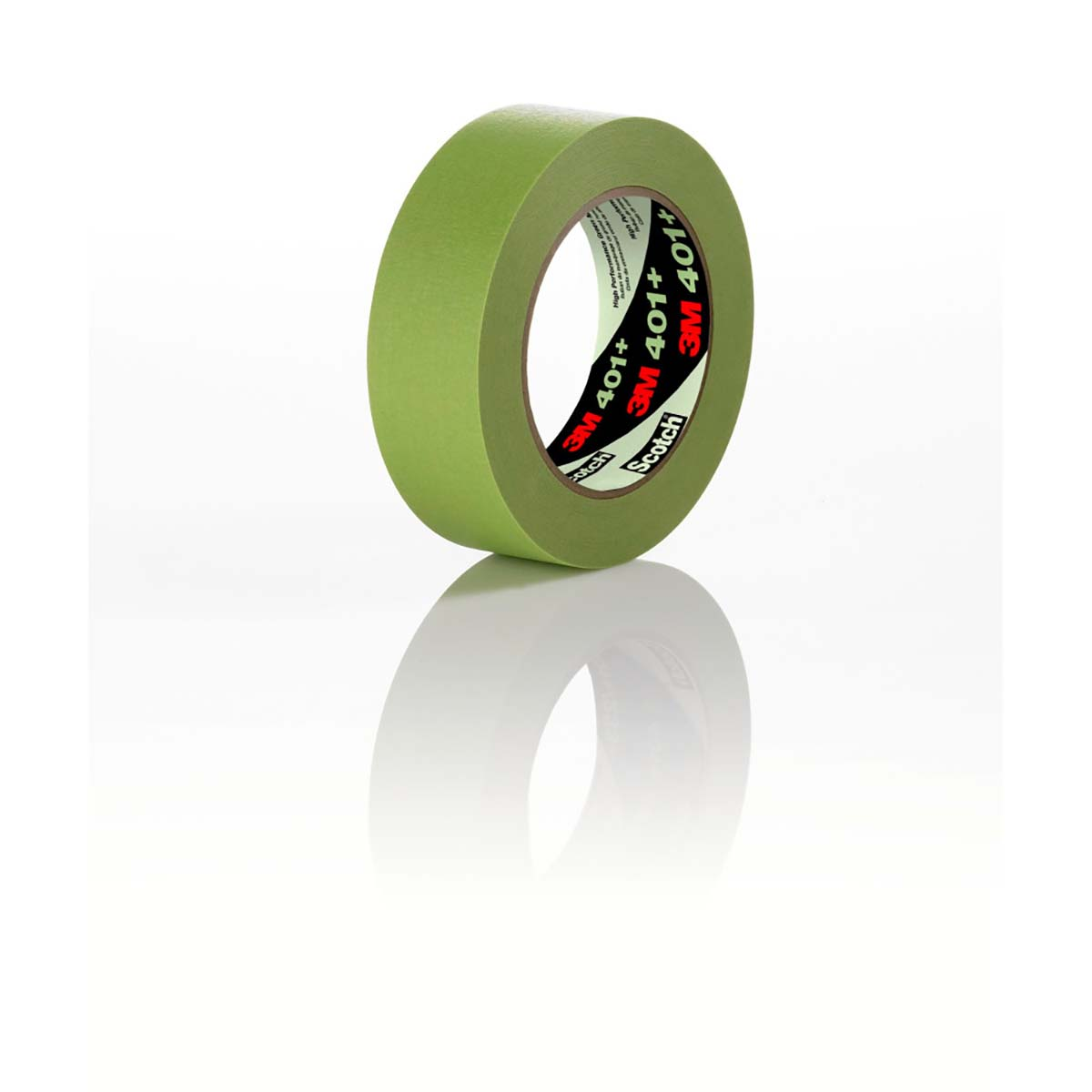 3M High Performance Green Masking Tape 401+, 24 mm x 55 m 6.7 mil, 24 per case Bulk