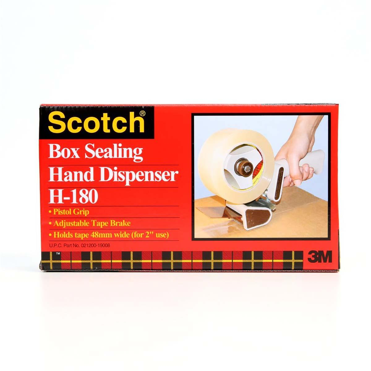 Scotch® Box Sealing Tape Dispenser H180, 2 in, 6 per case