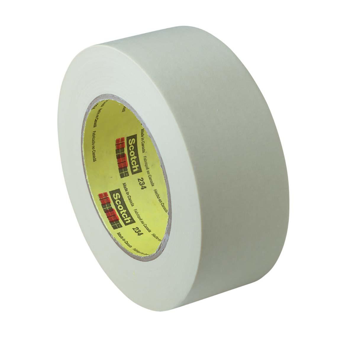 3M General Purpose Masking Tape 234 Tan, 18 mm x 55 m 5.9 mil, 48 per case Bulk