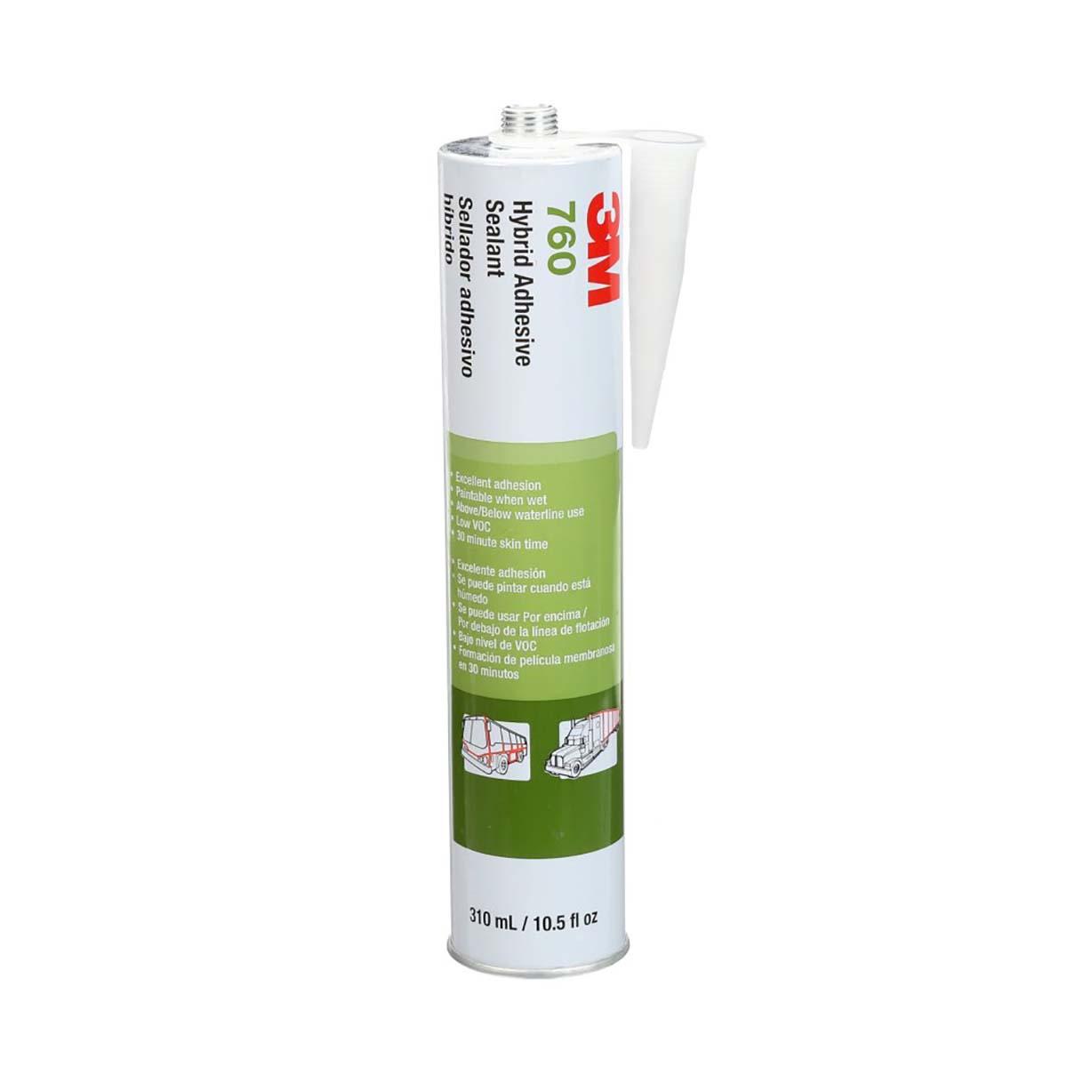 3M Adhesive Sealant 760 UV White, 290mL Cartridge, 12 per case.  NOT FOR RETAIL/CONSUMER USE.