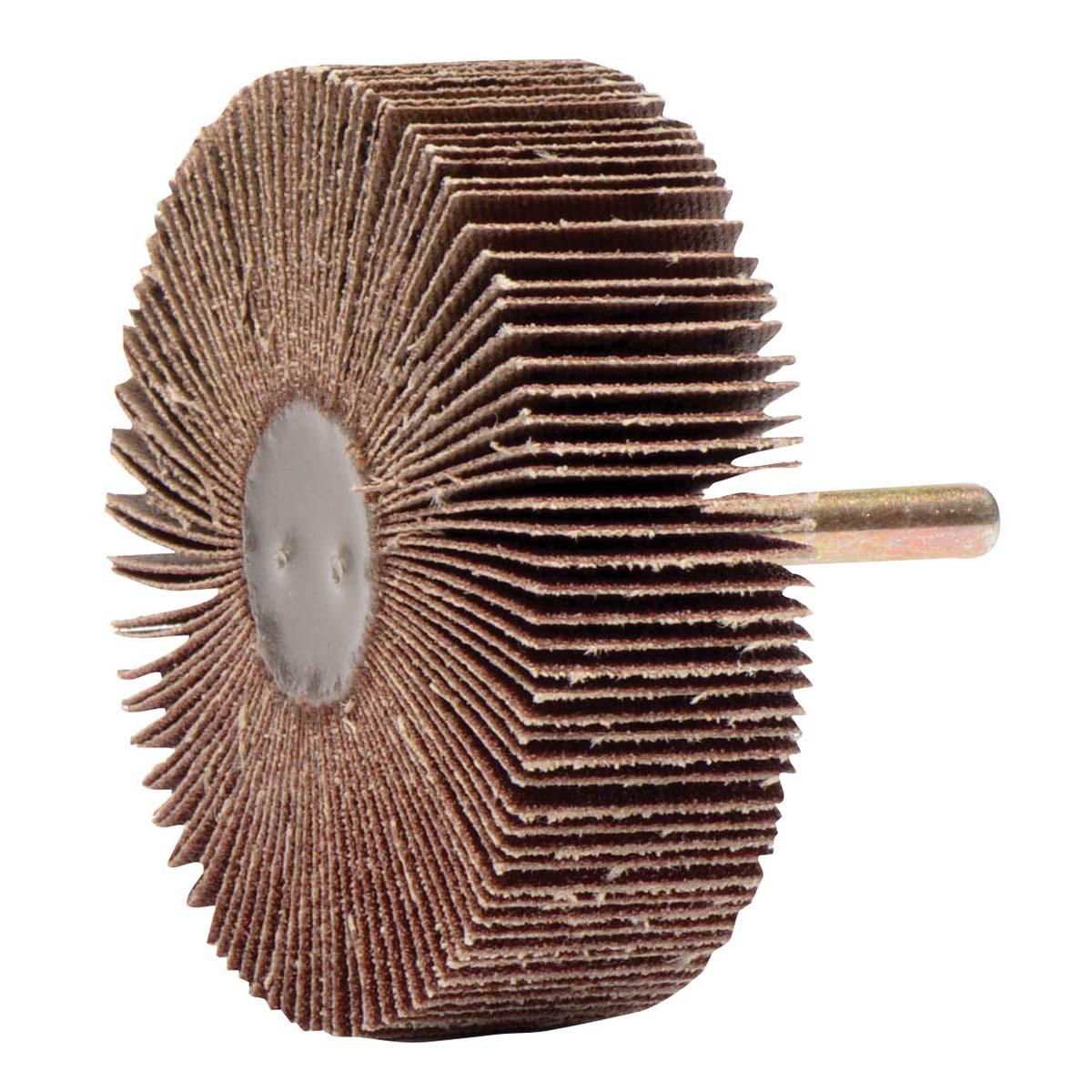 "3"" x 1"" Tiger Coated Abrasive Flap Wheel, 1/4"" Stem, 80AO - CA-3 X 1 X 80 GRIT"