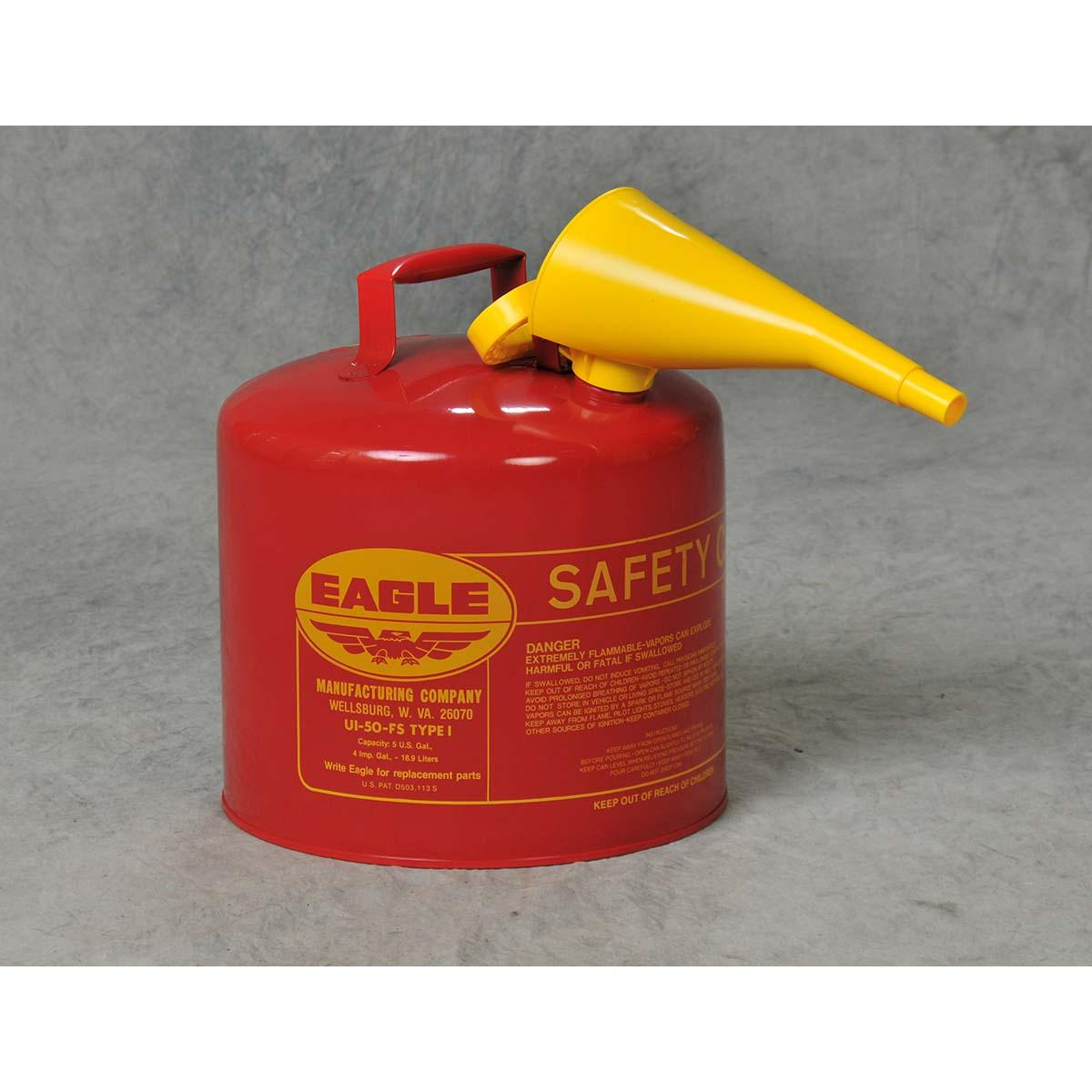 5 Gal. Metal - Red w/F-15 Funnel