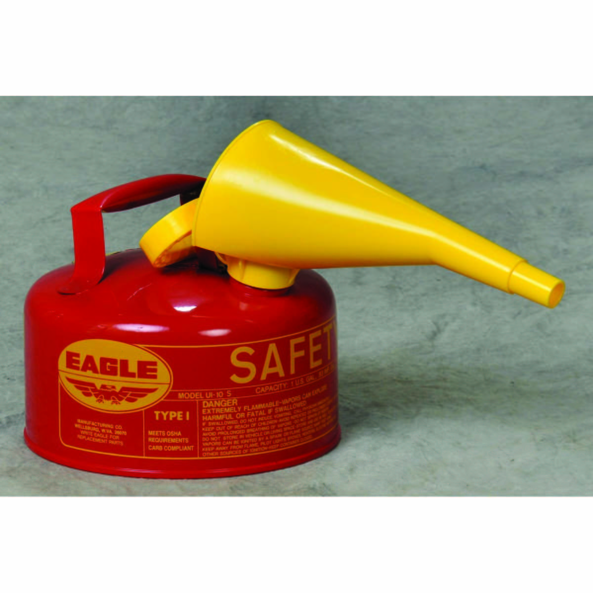 1 Gal. Metal - Red w/F-15 Funnel