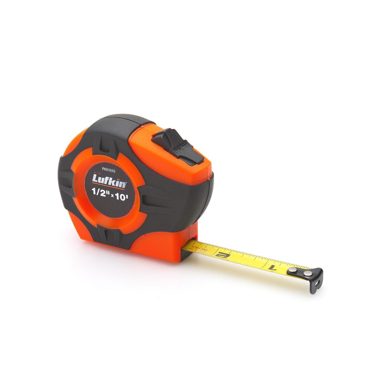 "1"" x 25"" P1000 Series Hi-Viz Orange Yellow Clad A35 Blade Power Return Tape Measure"
