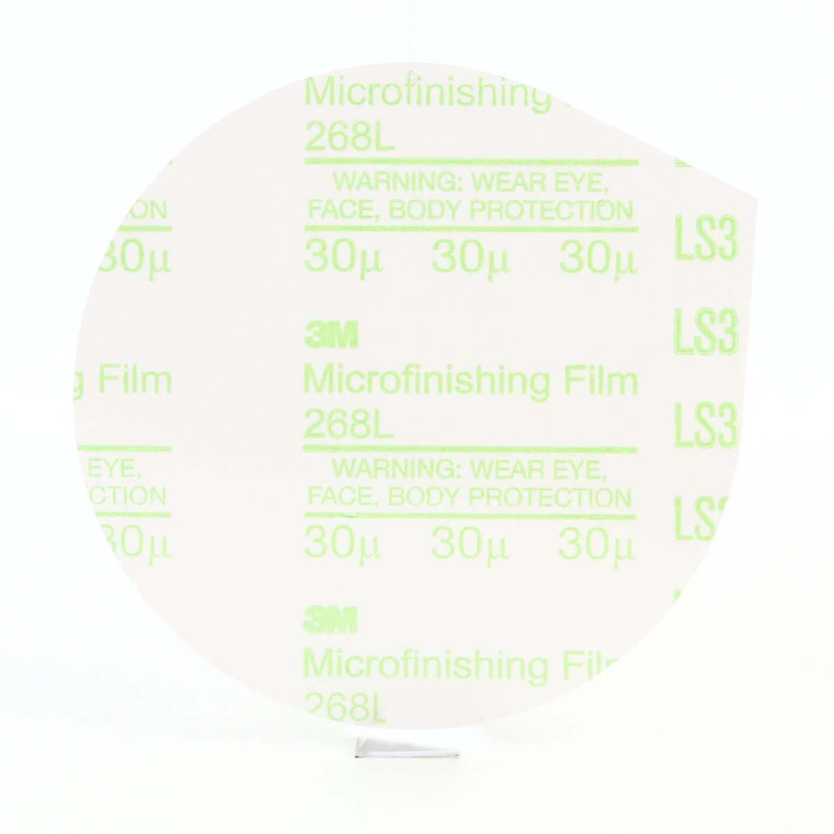3M Microfinishing PSA Film Type D Disc 268L, 5 in x NH 30 Micron