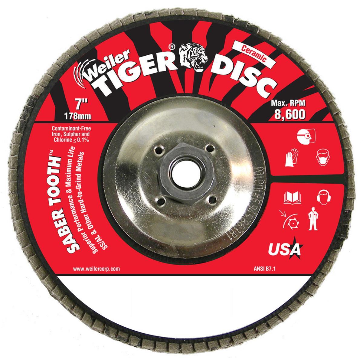 DEWALT DWA8285 80G T29 XP Ceramic Flap Disc 5 x 7//8 5 x 7//8